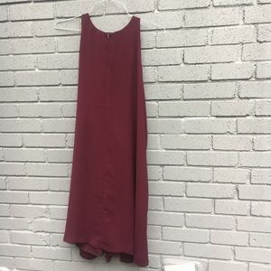 LOFT maroon shift tank dress large